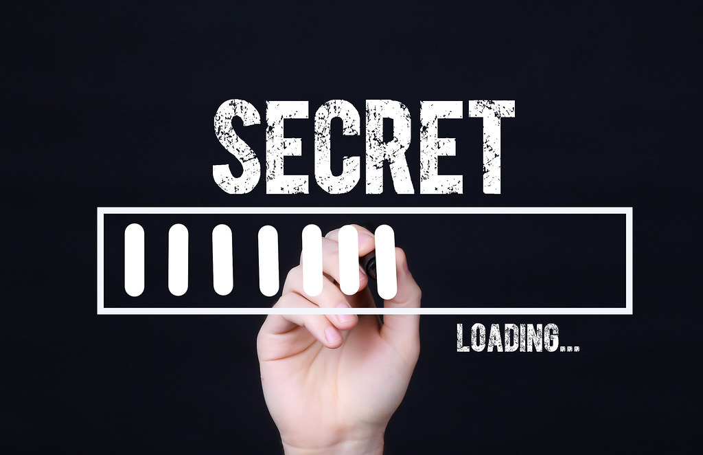 Handwriting Text Secret Loading. Concept meaning  Forecasting the future event