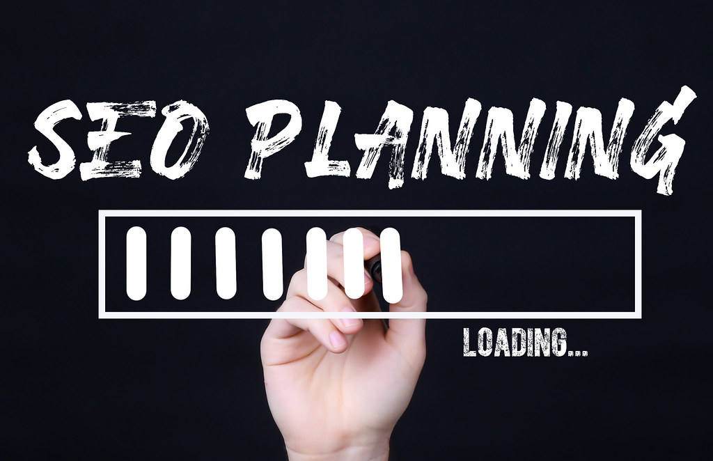Handwriting Text Seo Planning Loading. Concept meaning  Forecasting the future event